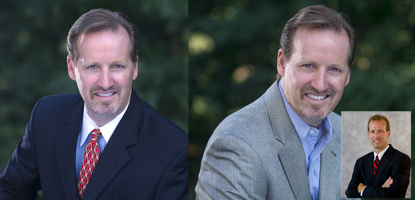 Headshot before after attorney
