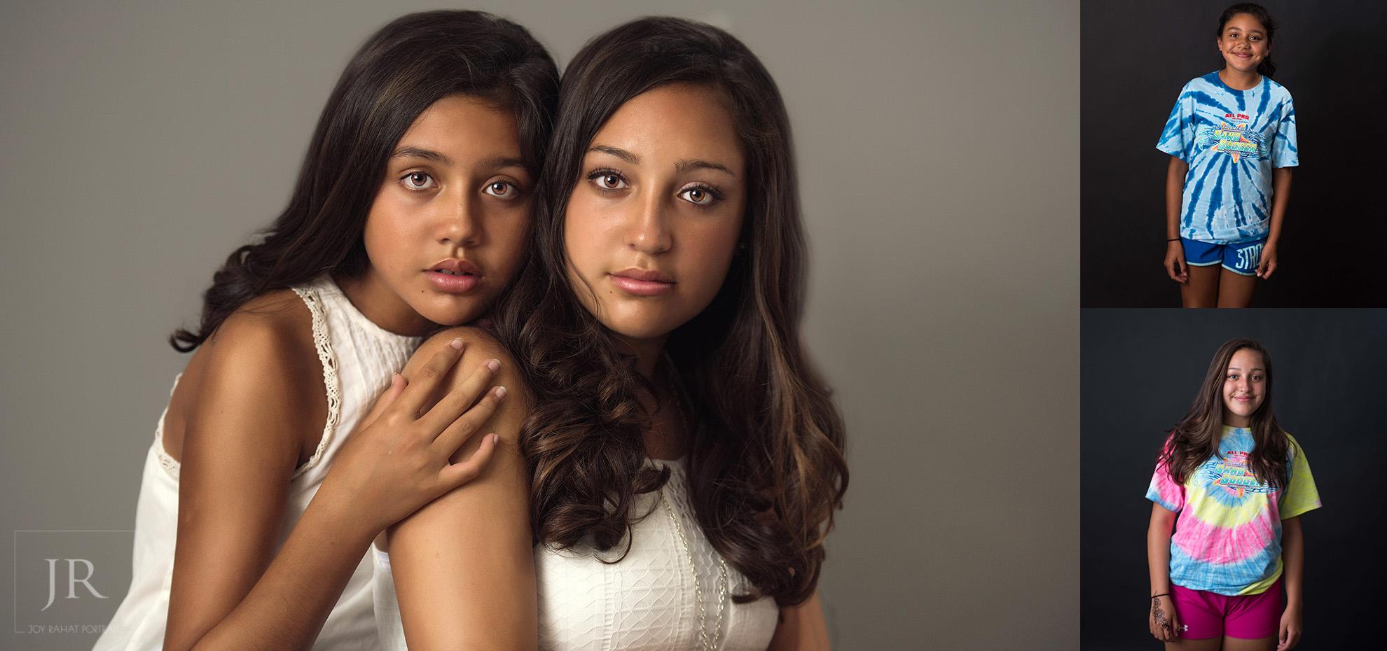 Sibling two latino sisters