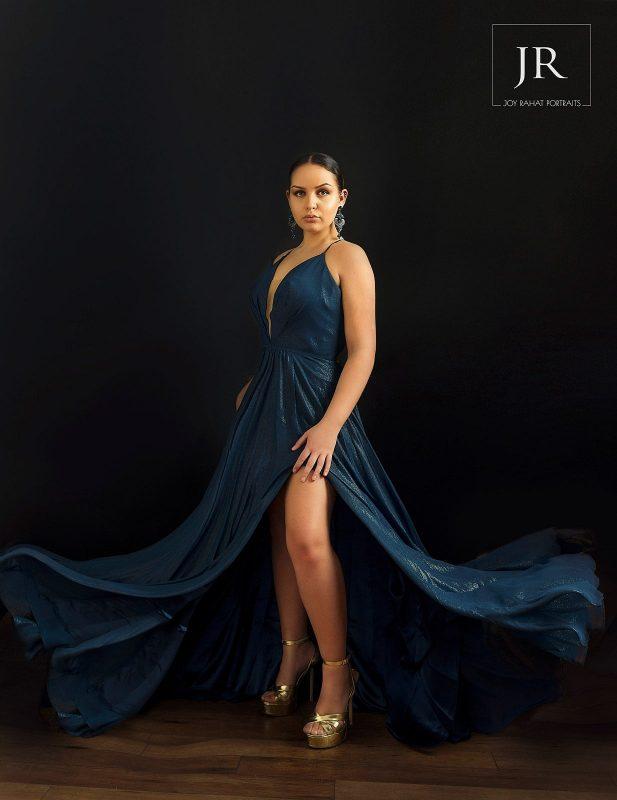 DC prom dresses blue long
